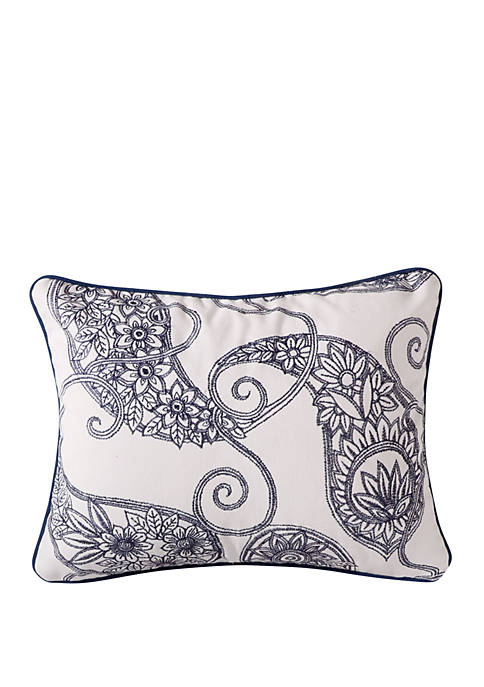 Levtex Home Giselle Navy Paisley Pillow