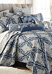 Giselle Navy Paisley Pillow