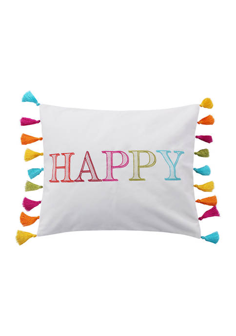 Levtex Home Happy Pillow with Tassels