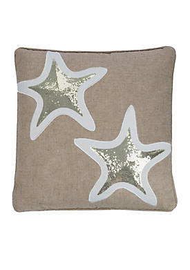 Naples Sequin Starfish Pillow