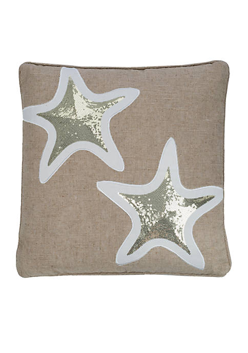 Naples Sequin Starfish Pillow