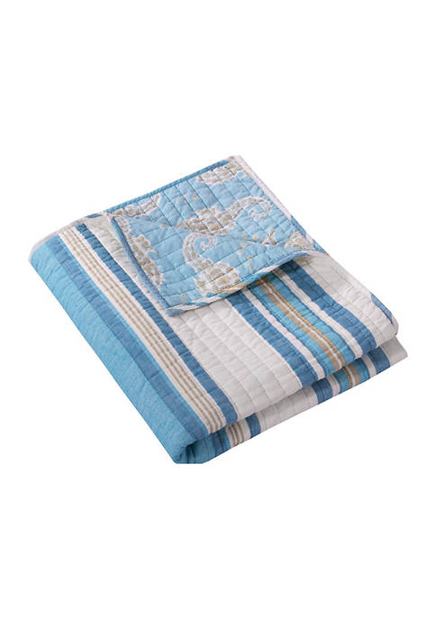 Levtex Blue Maui Quilted Throw