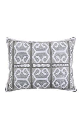 Isaiah Striped Geo Metallic Pillow
