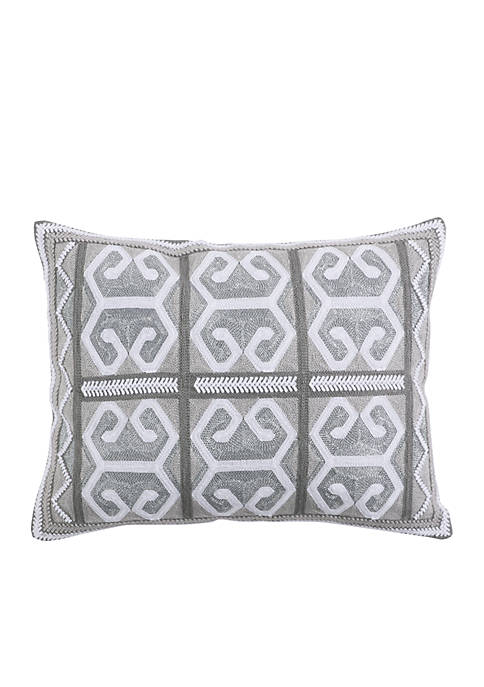 Levtex Isaiah Striped Geo Metallic Pillow