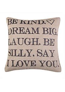 Levtex Leora Be Kind Pillow