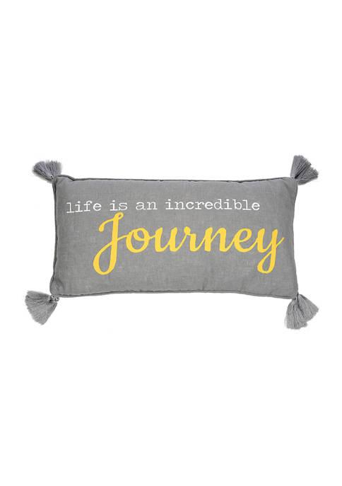 Levtex Home Taryn Gray Journey Pillow