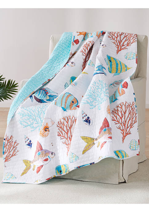 Levtex Home Barrier Reef Quilted Throw