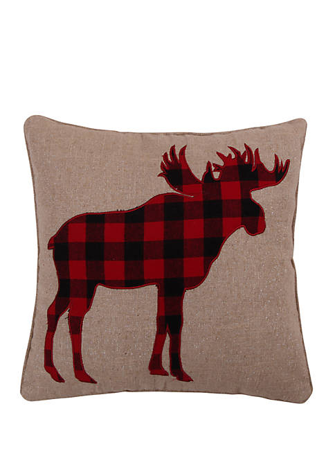 Levtex Home Lodge Sparkle Moose Pillow