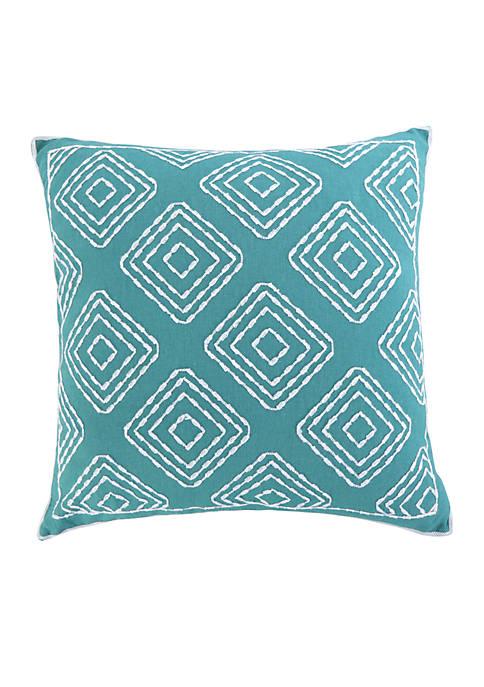 Levtex Huntington Teal Multi Diamond Pillow