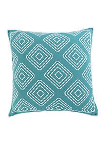 Huntington Teal Multi Diamond Pillow