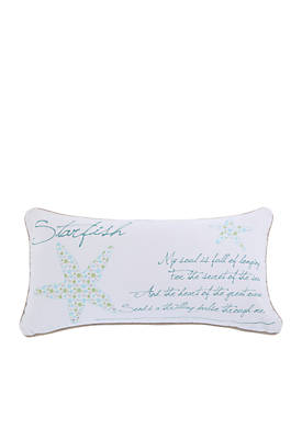 Huntington Metallic Starfish Pillow