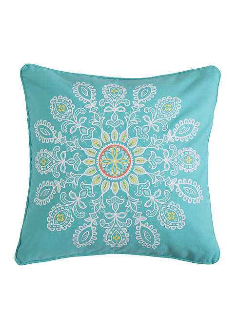 Lilian Coral Medallion Pillow