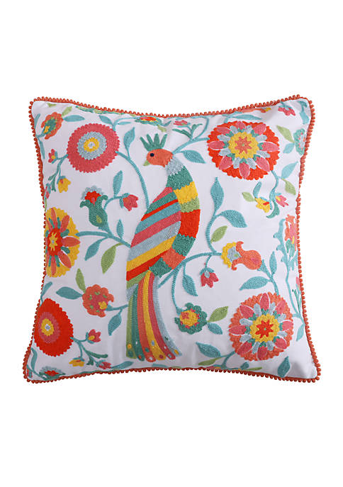Levtex Lilian Multicolored Bird Pillow