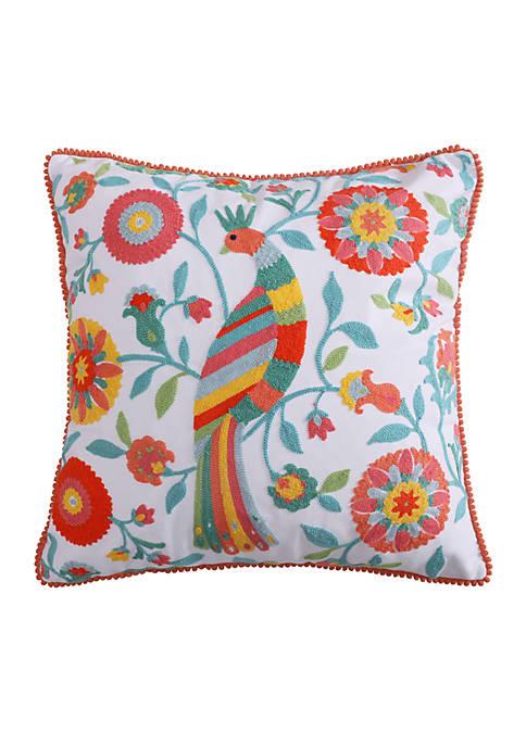 Levtex Lilian Multicolored Bird Pillow