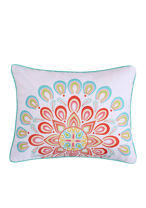 Levtex Lilian Coral Mandala Pillow