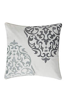 Levtex Home Delhi Gray Medallion Pillow