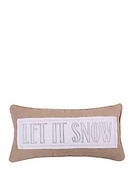 Silent Night Let it Snow Pillow