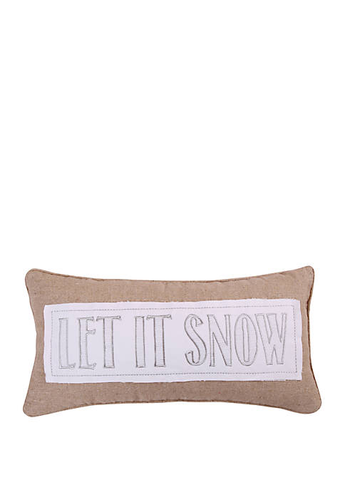 Levtex Silent Night Let it Snow Pillow