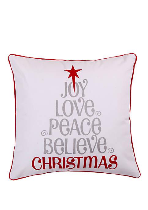 Levtex Silent Night Love Joy Peace Pillow
