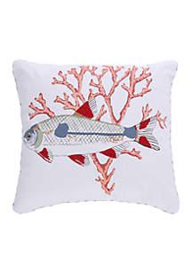 Levtex Larkin Screen Print Fish Pillow