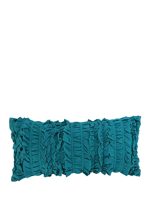 Marne Teal Ruched Pillow