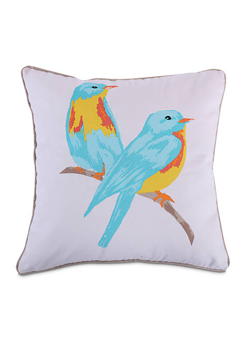 Levtex Alessandra Watercolor Birds Pillow