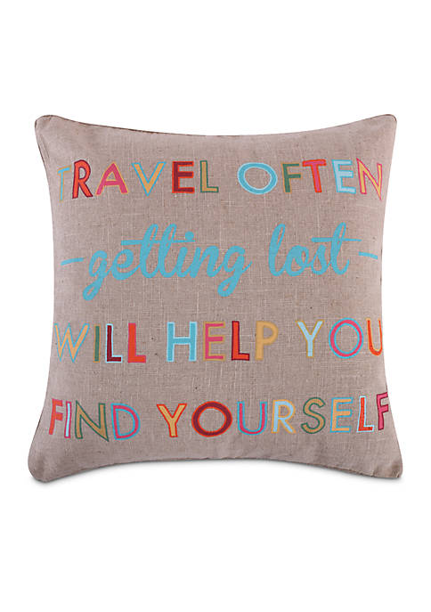 Levtex Alessandra Travel Often Pillow