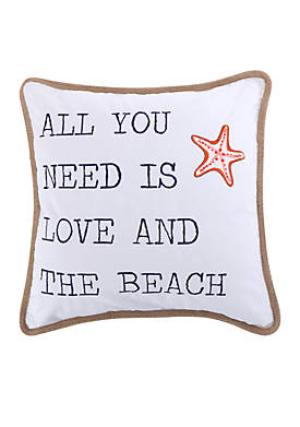 Larkin Coral All You Need is Love Pillow
