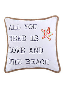 Levtex Larkin Coral All You Need is Love Pillow