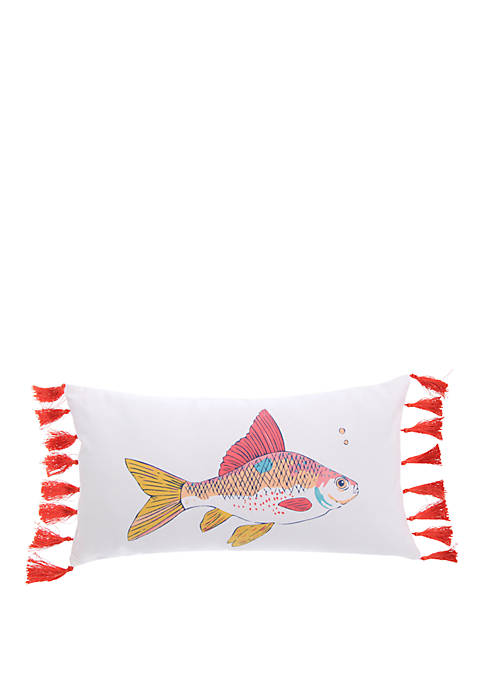 Levtex Home Barrier Reef Fish with Tassels Pillow