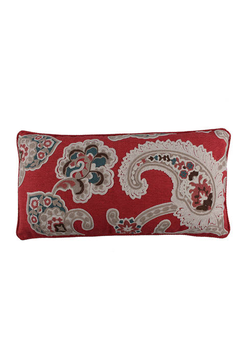 Levtex Astrid Paisley Embroidered Pillow