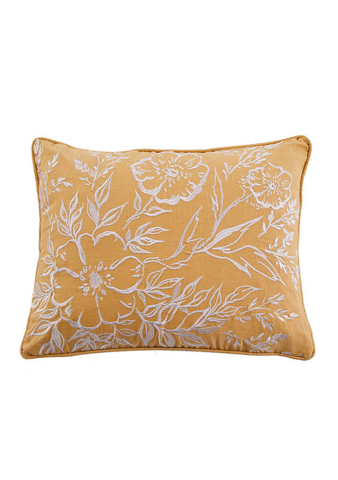 Apolonia Ochre Embroidered Pillow