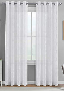 J Queen New York Ringley Ivory Window Panel Pair