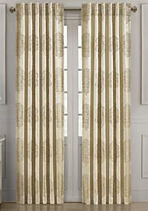 J Queen New York Conrad Gold 95 in Window Rod Pocket Panel