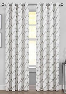 J Queen New York Midori Blue Window Rod Pocket Panel
