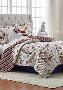Evelyn Floral 6-Piece Quilt Bed-In-A-Bag