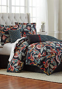 6-Piece Poppy Quilt Bed-In-A-Bag Set