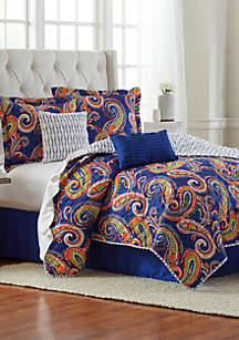 6-Piece Sofia Quilt Bed-In-A-Bag Set