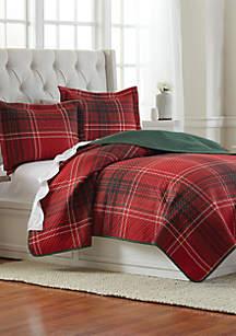 Holiday Plaid Pinsonic Quilt Set