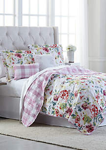 Modern. Southern. Home.™ Floral Bouquet  6 Piece Quilt Bed-In-A-Bag