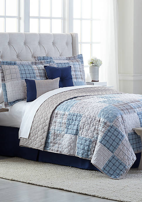 Patchwork 6 Piece Bed in a Bag Quilt Set
