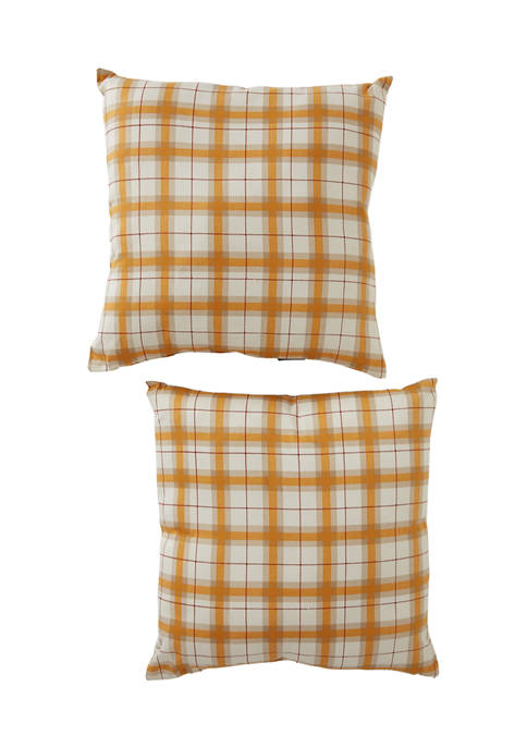 2 Pack of Solid and Graphic Pillows
