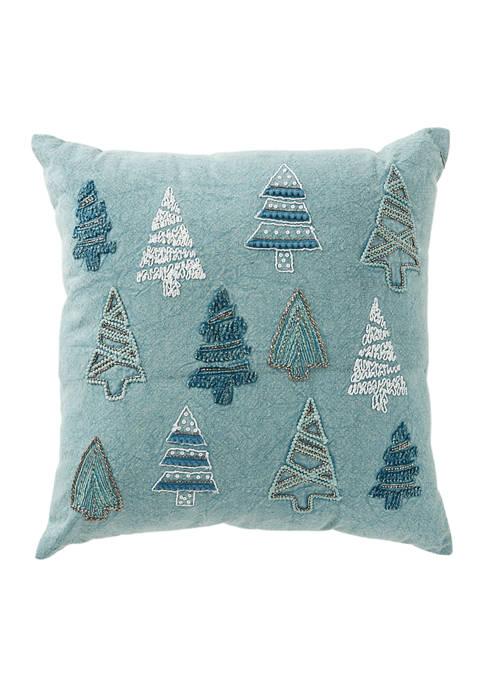 Multi Tree Throw Pillow