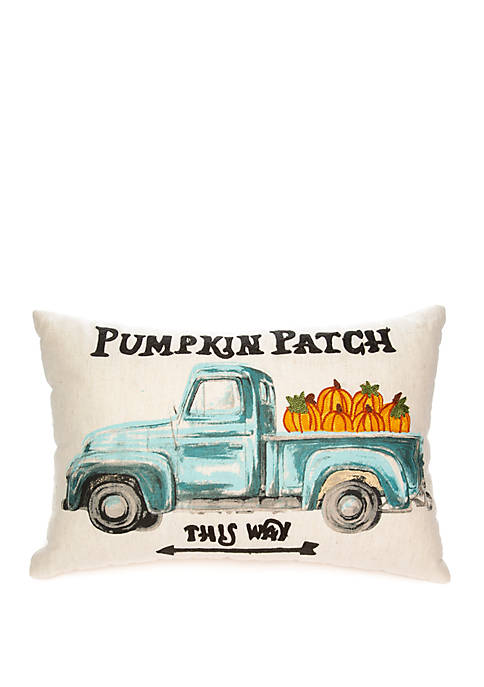 Pumpkin Truck Throw Pillow
