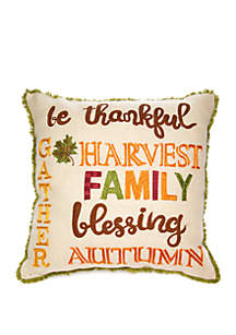 Modern. Southern. Home.™ Thankful Throw Pillow