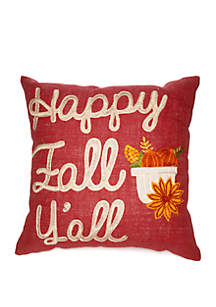 Modern. Southern. Home.™ Happy Fall Y'all Throw Pillow