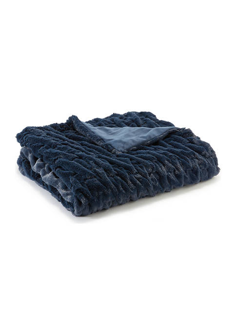 Modern. Southern. Home.™ Solid fur Throw Blanket