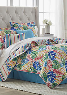 Palm Leaves 6-Piece Quilt Bed-In-A-Bag