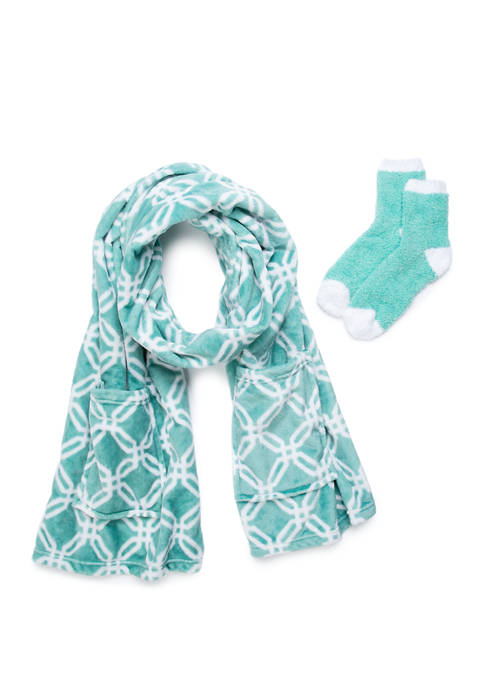 Modern. Southern. Home.™ Boxed Readers Wrap and Socks-