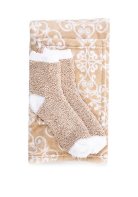 Boxed Reader Blanket and Socks Set